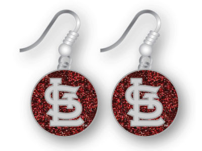 St. Louis Cardinals Glitter Dangle Earrings Aminco