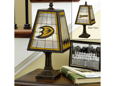 Anaheim Ducks Art Glass Table Lamp