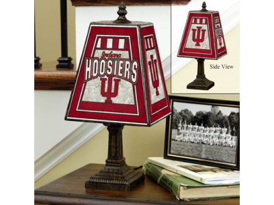 Indiana Hoosiers Art Glass Table Lamp