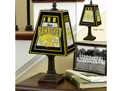Iowa Hawkeyes Art Glass Table Lamp