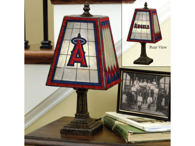 Los Angeles Angels Art Glass Table Lamp