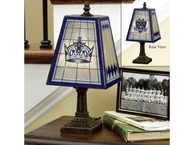 Los Angeles Kings Art Glass Table Lamp