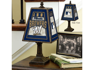 Milwaukee Brewers Art Glass Table Lamp