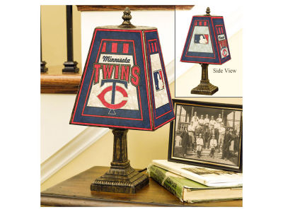 Minnesota Twins Art Glass Table Lamp