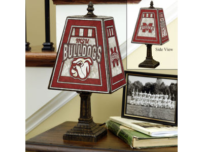 Mississippi State Bulldogs Art Glass Table Lamp