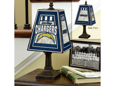 San Diego Chargers Art Glass Table Lamp