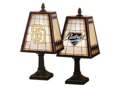 San Diego Padres Art Glass Table Lamp