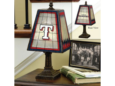 Texas Rangers Art Glass Table Lamp