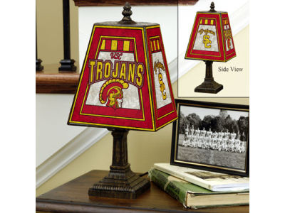 USC Trojans Art Glass Table Lamp