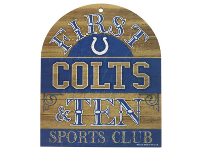 Indianapolis Colts 10x11 Wood Sign