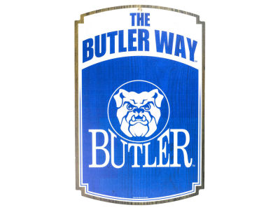 Butler Bulldogs 11x17 Wood Sign