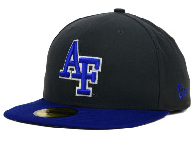 Air Force Falcons New Era NCAA 2 Tone Graphite and Team Color 59FIFTY Cap