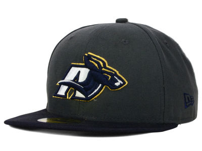 Akron Zips New Era NCAA 2 Tone Graphite and Team Color 59FIFTY Cap