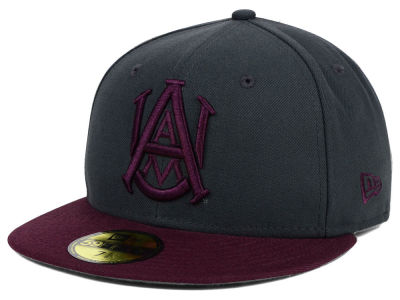 Alabama A&M Bulldogs New Era NCAA 2 Tone Graphite and Team Color 59FIFTY Cap