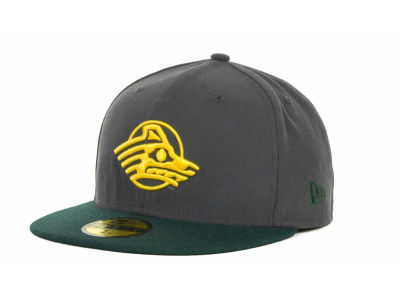 Alaska Anchorage Seawolves New Era NCAA 2 Tone Graphite and Team Color 59FIFTY Cap