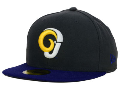 Angelo State University Rams New Era NCAA 2 Tone Graphite and Team Color 59FIFTY Cap