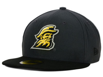 Appalachian State Mountaineers New Era NCAA 2 Tone Graphite and Team Color 59FIFTY Cap