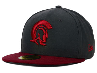 Arkansas Little Rock Trojans New Era NCAA 2 Tone Graphite and Team Color 59FIFTY Cap