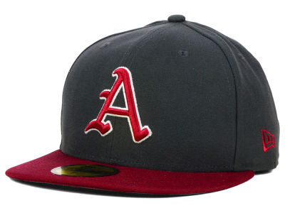Arkansas Razorbacks New Era NCAA 2 Tone Graphite and Team Color 59FIFTY Cap
