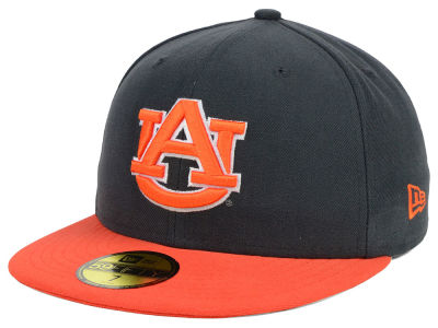 Auburn Tigers New Era NCAA 2 Tone Graphite and Team Color 59FIFTY Cap