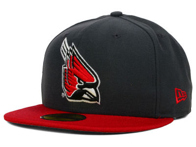 Ball State Cardinals New Era NCAA 2 Tone Graphite and Team Color 59FIFTY Cap