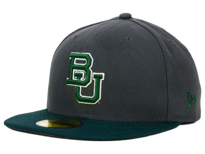 Baylor Bears New Era NCAA 2 Tone Graphite and Team Color 59FIFTY Cap