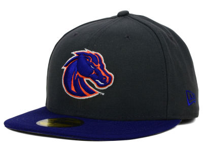 Boise State Broncos New Era NCAA 2 Tone Graphite and Team Color 59FIFTY Cap