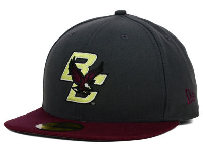Boston College Eagles New Era NCAA 2 Tone Graphite and Team Color 59FIFTY Cap