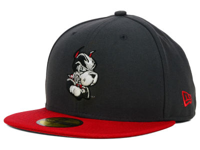 Boston Terriers New Era NCAA 2 Tone Graphite and Team Color 59FIFTY Cap