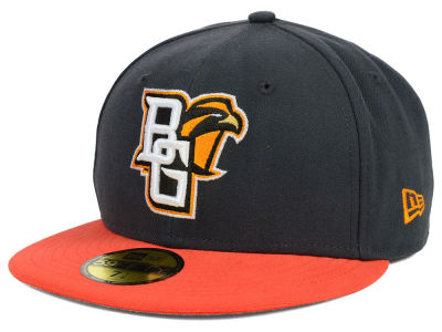 Bowling Green Falcons New Era NCAA 2 Tone Graphite and Team Color 59FIFTY Cap