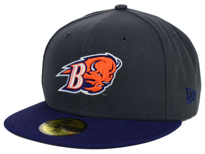 Bucknell Bison New Era NCAA 2 Tone Graphite and Team Color 59FIFTY Cap