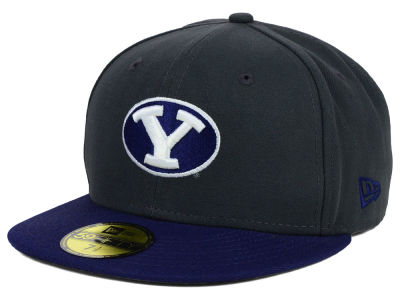 Brigham Young Cougars New Era NCAA 2 Tone Graphite and Team Color 59FIFTY Cap