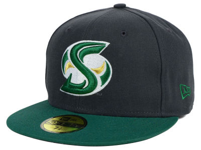 Sacramento State Hornets New Era NCAA 2 Tone Graphite and Team Color 59FIFTY Cap