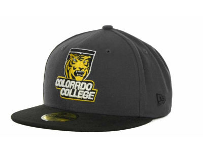 Colorado College Tigers New Era NCAA 2 Tone Graphite and Team Color 59FIFTY Cap