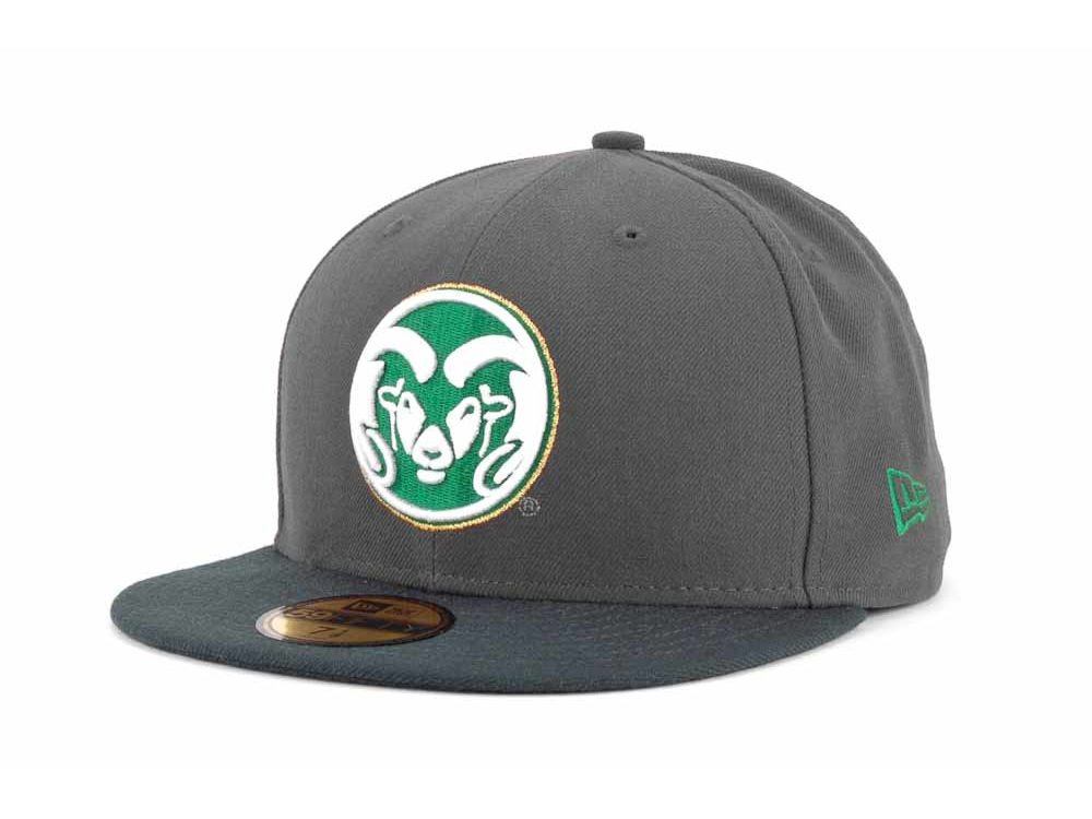Colorado State Rams New Era NCAA 2 Tone Graphite and Team Color 59FIFTY Cap   942a44619f7d