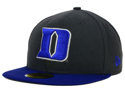 Duke Blue Devils New Era NCAA 2 Tone Graphite and Team Color 59FIFTY Cap