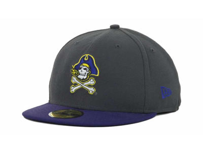 East Carolina Pirates New Era NCAA 2 Tone Graphite and Team Color 59FIFTY Cap