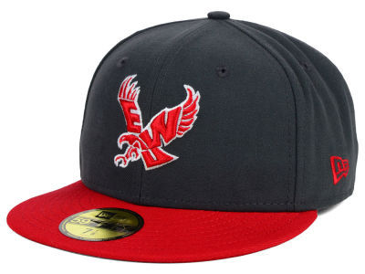 Eastern Washington Eagles New Era NCAA 2 Tone Graphite and Team Color 59FIFTY Cap