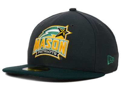 George Mason Patriots New Era NCAA 2 Tone Graphite and Team Color 59FIFTY Cap