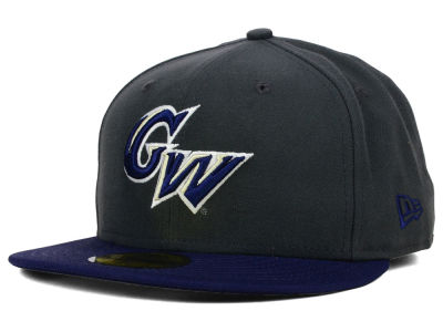 George Washington Colonials New Era NCAA 2 Tone Graphite and Team Color 59FIFTY Cap