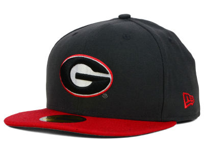 Georgia Bulldogs New Era NCAA 2 Tone Graphite and Team Color 59FIFTY Cap