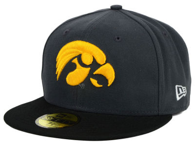 Iowa Hawkeyes New Era NCAA 2 Tone Graphite and Team Color 59FIFTY Cap