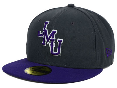 James Madison Dukes New Era NCAA 2 Tone Graphite and Team Color 59FIFTY Cap