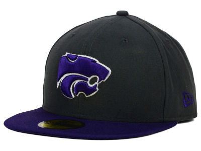 Kansas State Wildcats New Era NCAA 2 Tone Graphite and Team Color 59FIFTY Cap