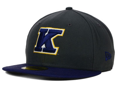 Kent State Golden Flashes New Era NCAA 2 Tone Graphite and Team Color 59FIFTY Cap