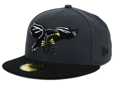 Long Island Blackbirds New Era NCAA 2 Tone Graphite and Team Color 59FIFTY Cap