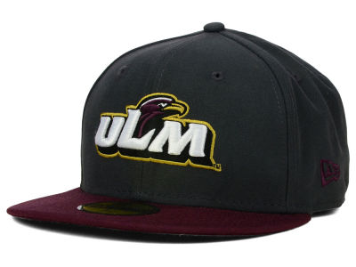 LA Monroe Warhawks New Era NCAA 2 Tone Graphite and Team Color 59FIFTY Cap