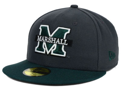 Marshall Thundering Herd New Era NCAA 2 Tone Graphite and Team Color 59FIFTY Cap