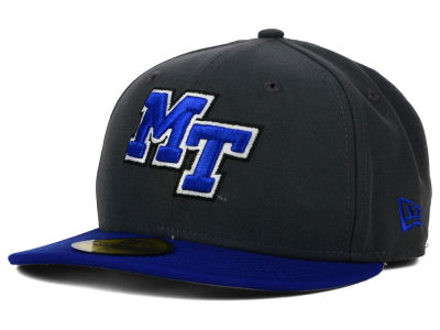 Middle Tennessee State Blue Raiders New Era NCAA 2 Tone Graphite and Team Color 59FIFTY Cap