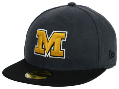 Missouri Tigers New Era NCAA 2 Tone Graphite and Team Color 59FIFTY Cap